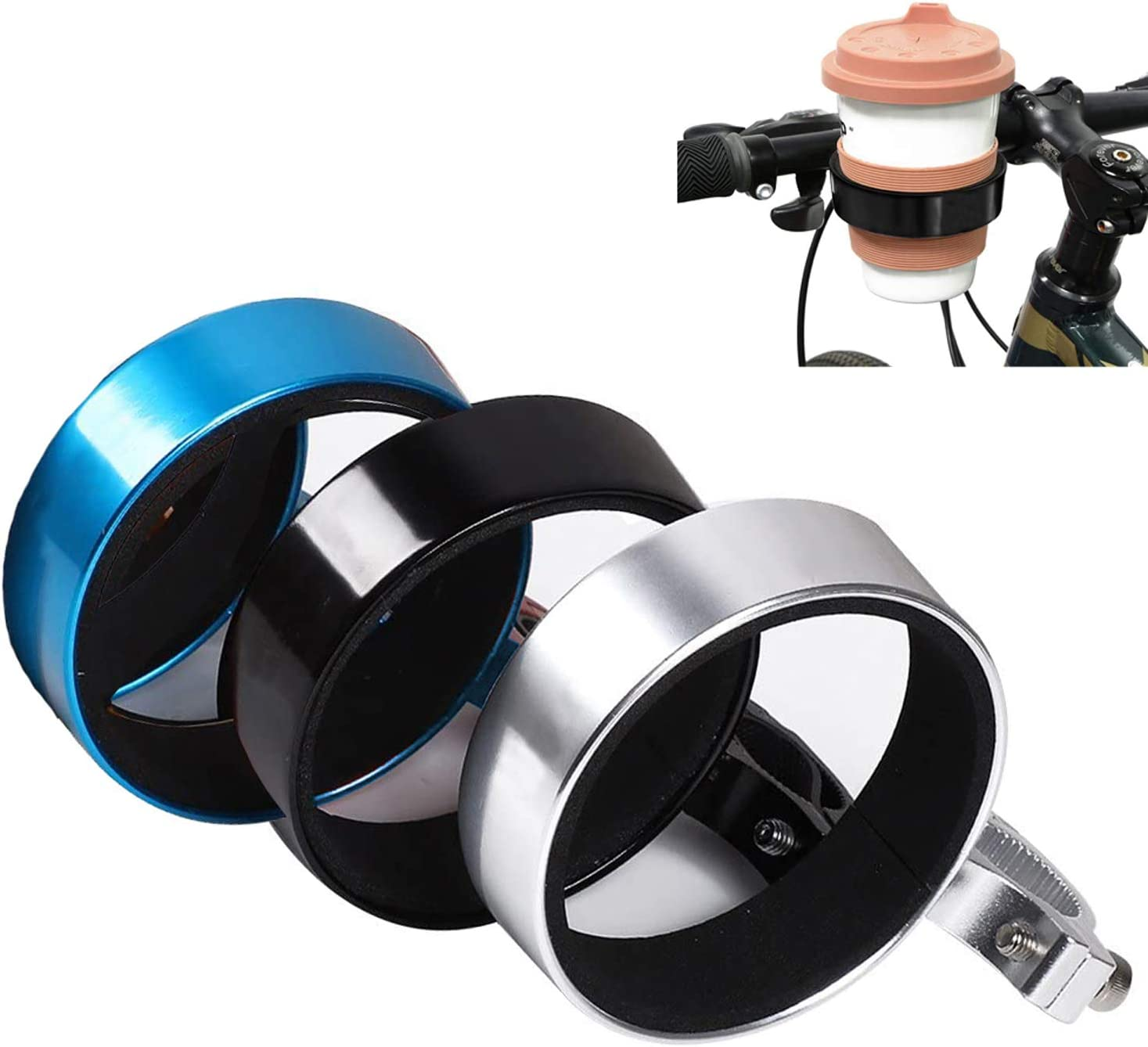 Durable Lightweight Drinks Beverage Cups Bracket for Commuters Rode Mountain Cycling FINGER TEN Bike Cup Holder Handlebar Cruiser Coffee Water Bottle Cages Aluminum Alloy Value 2 Pack