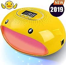 PrettyDiva UV Nail Lamp - 54W LED UV Gel Nail Light Nail Dryer for Gel Nail Polish Curing Lamp with Auto Sensor LCD Screen for Fingernails & Toenails - Cartoon Yellow