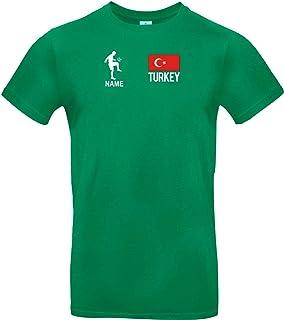 Shirtstown Camiseta de Niño Camiseta de Fútbol Turquía con Su Nombre Desdeado Estampado