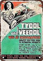 アルミ金属看板ティンサイン1934インディアナポリスでのタイドルガスヴィードル油500最高の金属看板レトロな家の装飾バーパブの家のためのビンテージティンサインポスター
