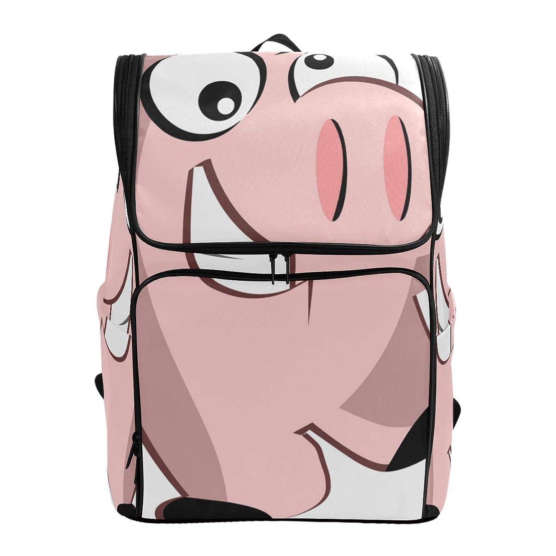 突撃男性サージマキク(MAKIKU) リュック 大容量 バカバカしい 豚 面白い顔 ピンク リュックサック 軽量 メンズ 登山 通学 通勤 旅行 プレゼント対応