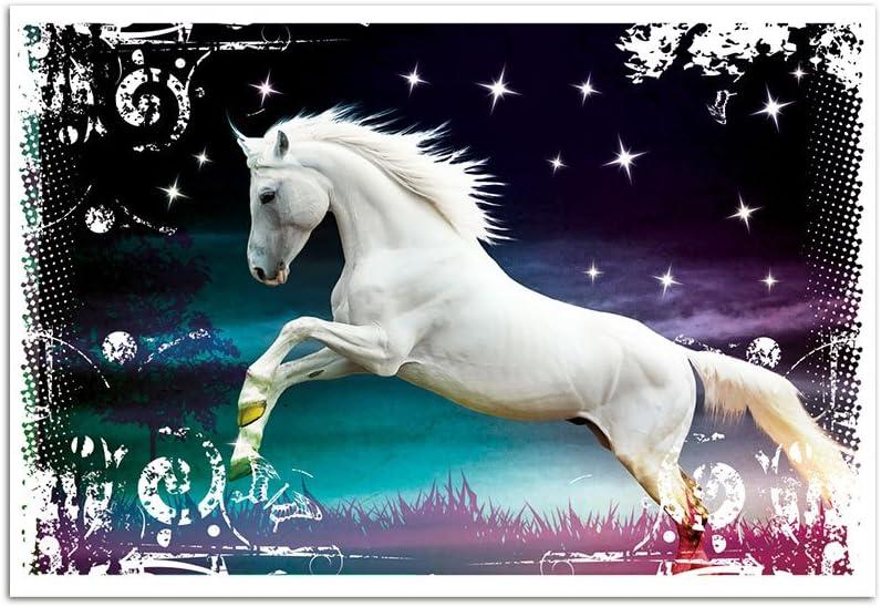 Pferd Sport Mädchen Ross Hobby Western Wild West Kinderzimmer Wandtattoo A085