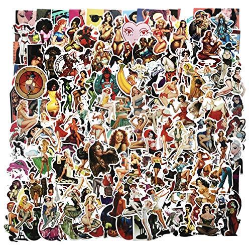 BBINHAN Aufkleber Pack Wasserdicht Erwachsene sexy Aufkleber 300 pcs Sexy Comic Aufkleber Vinyl-Sticker Bikini für Laptop Auto Helm Gepäck Dekor DIY Party Supplies Patches Decal