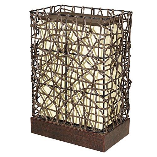 Design Steh Stand Lampe Leuchte Licht Außenbereich dunkelbraun 1x E27 EGLO 89561