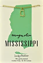 mississippi shaped jewelry