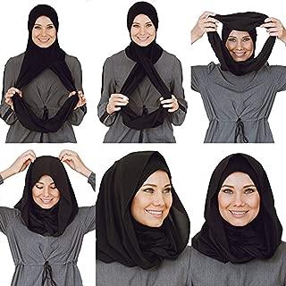 Cotton and Shiffon headscarf, instant hijab, ready to wear hijab for women by VeilWear