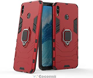 Cocomii Black Panther Armor Huawei Honor 8X/Honor View 10 Lite Case New [Heavy Duty] Tactical Metal Ring Grip Kickstand Shockproof [Works with Magnetic Car Mount] Cover for Huawei Honor 8X (B.Red)