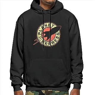 Planet Express Men's Pullover Hoodie Hooded Sweatshirt Tall Hooded Fleece Pullover