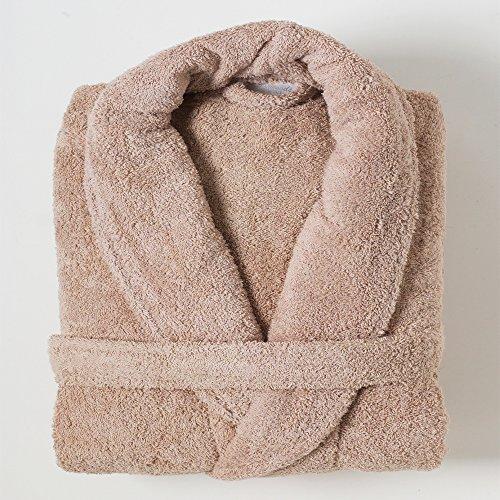 Linens Limited Peignoir de Bain, Coton égyptien, Beige, L