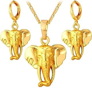 Lucky Elephant Pendant 18k Gold Plated/Platinum Plated Rhinestone Crystal Necklace