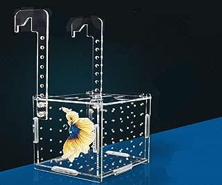 Tfwadmx Aquarium Fish Breeder BoxHatchery Incubator, Acrylic Fish Isolation Breeder Box for Crawfish Guppy Betta Eels Crab