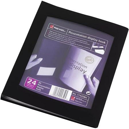 Rexel 17435BK Livret de Présentation avec 24 Pochettes A5 noir