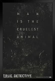 Pyramid America True Detective Teaser HBO TV Black Wood Framed Poster 14x20