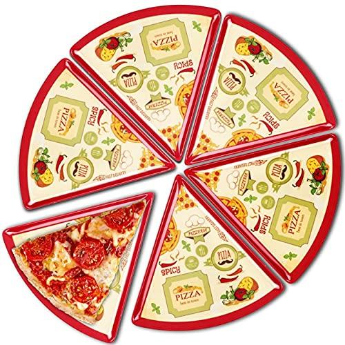 Pizza Plates Melamine (Pack6) Italian Design 9 inch