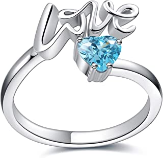 Jigsaw Puzzle Piece Heart Stainless Steel Finger Ring for Mothers Gift or Keepsake Kids KEMMO Autism Awareness Ring Jewelry Fathers Supporters