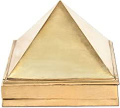 Divya Mantra Vastu Wish Multilayered 1.5 Inches Pure Brass Pyramid (Set of 3) 91 Pyramids in Total