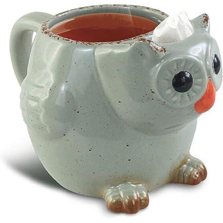 Volar Ideas 14oz Owl Tea Mug Green