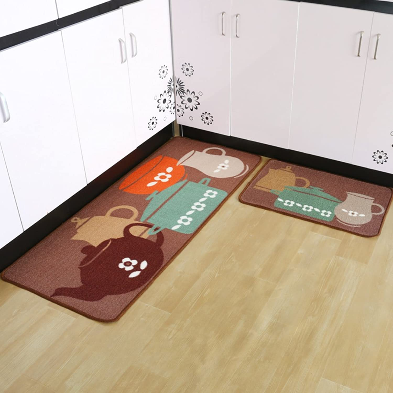 The kitchen floor mat Strip pad The door Bathroom non-slip Water-absorbing mats Doormat-A 50x180cm(20x71inch)