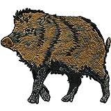 Aufnäher - Wildschwein - 04802 - Gr. ca. 10 x 8 cm - Patches Stick Applikation