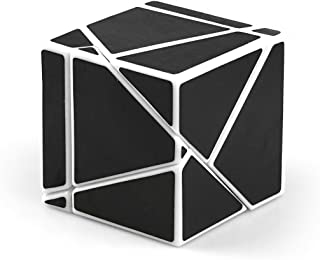 CuberSpeed FangShi LimCube 2x2 Ghost Cube White with Black stickes Magic Cube