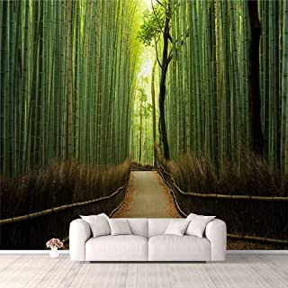 Modern 3D PVC Design Removable Wallpaper for Bedroom Living Room Pristine natural bamboo forest Wallpaper Stick and Peel W...