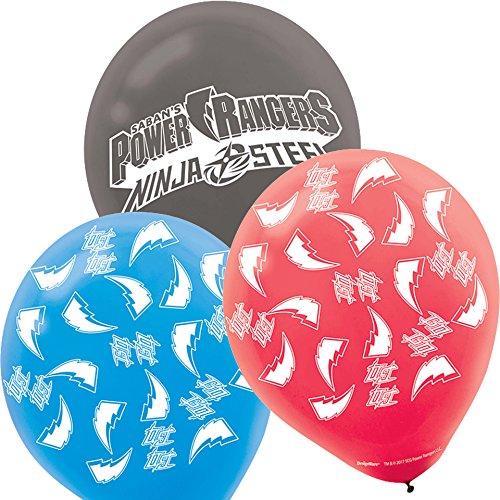 amscan Power Rangers Globos de látex (paquete de 6)