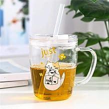 WBF INC Taza Cute Cartoon Animal Tick Milk Glass Fresh Office Cup Thanksgiving 3