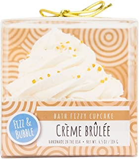 Fizz & Bubble Bath Fizzy Bomb Cupcake Creme Brulee - 6.5 Ounce