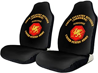KEEDCE&FJE 108th Infantry Division Airborne Universal Car Seat Cover Car Seat Covers Protector for Automobile Truck SUV Vehicle