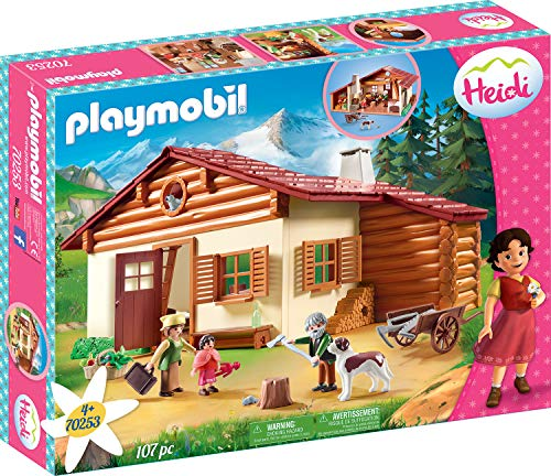 Playmobil 70253 Heidi and Grandfather at The Alpine hut - New 2019
