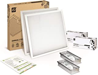2-Pack ASD 2x2 LED Panel 40W Dimmable Direct-Lit 4000K (Bright Light) Commercial Grade, UL Certified