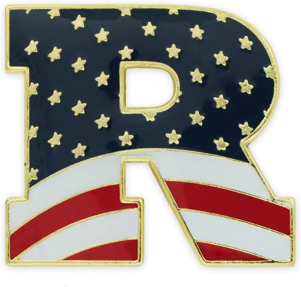 PinMart American unisex Flag Republican Party Lapel Pi Patriotic Fixed price for sale Enamel