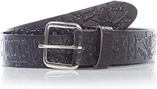 Lucky 13 Black Grease Gas And Glory Belt (Small, Black)