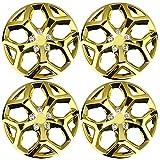 Tortas De Ruedas De 4X 14 Pulgadas Tortas De Cubo Cubiertas Cubiertas De Aleación ABS De Plástico ABS,Oro