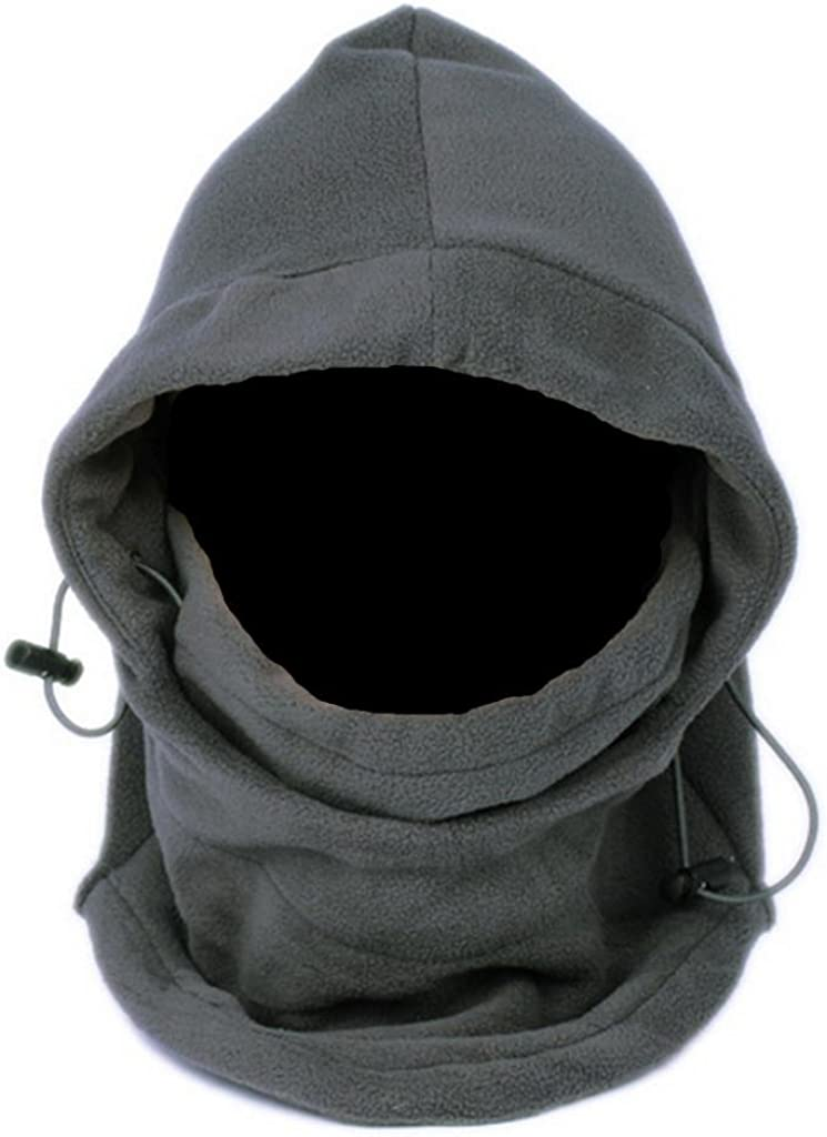 NSSTAR Thermal Warm Fleece Full Face Mask Balaclava CS Mask Head and Neck Cover Warmer Windproof Hooded Scraf Hat for Winter Outdoor Sports Cycling Motorcycle Bike Ski Snowboard fishing (Grey)