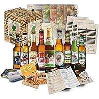 """""""CERVEZAS DE ALEMANIA"""" Selección de las 9 mejores cervezas alemanas. Paquete de degustación. Excelente idea de regalo para hombres jóvenes y adultos."""