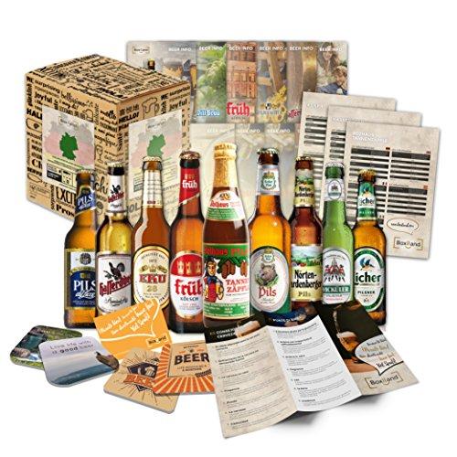 'CERVEZAS DE ALEMANIA' Selección de las 9 mejores cervezas alemanas. Paquete de degustación. Excelente idea de regalo para hombres jóvenes y adultos.