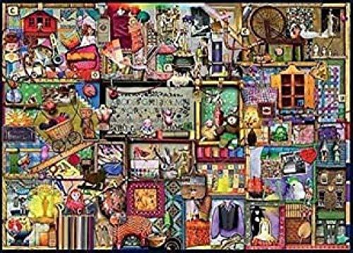 LAIQIAN 1000 hölzerne Puzzleteile , Kochschrank Bücherregal Puzzle, Holz Puzzle Spielzeug, Adult Relief Stress Puzzles Spiele , Puzzles für die Heimdekoration