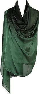 PB-SOAR Mode Damen Farbverlauf Schal Seidenschal Halstuch Stola 190 x 100cm, leicht und schlicht, 18 Farben auswählbar