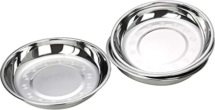 Dehouse 4-Piece Dinner Plates Stainless Steel, Serving Plates