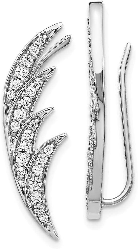 14K White Gold Diamond Earrings (0.504Ct)