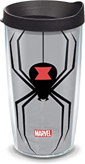 Tervis 1337829 Marvel Widow Insulated Tumbler with Wrap and Black Lid, Tritan, Clear