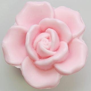 Florex Pflanzenölseife - Rose Luxus - blumig duftender Rosenduft Seife in Rosenform Geschenk 125 g