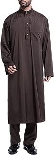 Loose Style Middle East Kaftan Dubai Arab Muslim Islamic Men's Clothing Suit Shirt Pants S-XXXL