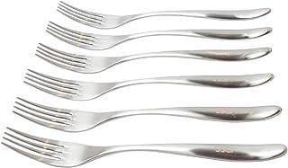 FOKNSPRA Premium Dinner Fork 6 Pieces, Stainless Steel 8.3 Inch Forks Silverware, Matte Table Forks Set of 6 (6)