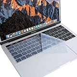 MOSISO キーボードカバー 防水 防塵カバー 保護 キースキン 清潔易い 日本語 JIS配列 MacBook Pro Touch Bar/Touch ID搭載 13 / 15 インチ 最新 2019 2018 2017 2016 (モデル:A2159/A1989/A1990/A1706/A1707)対応(クリア)