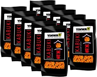 10er SET YINWA Kabuki 75 g / Reisgebäck mit Chili / scharfe Reis Cracker / Spicy Snacks
