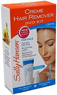 Sally Hansen Creme Hair Remover Kit for Face, Lip and Chin (Case of 6)