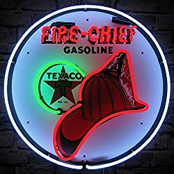 Neonetics 5TXFIR Texaco Fire Chief Gasoline Neon Sign, 4 x 24 x 24