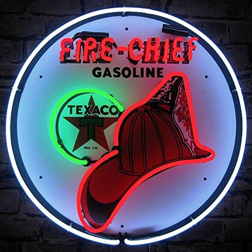 Neonetics 5TXFIR Texaco Fire Chief Gasoline Neon Sign, 4 x 24 x 24